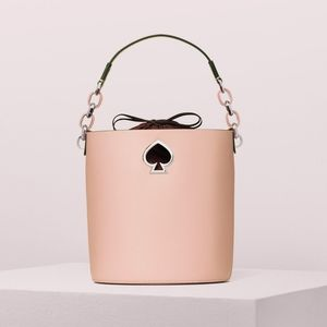Kate Spade Suzy Small Bucket Bag Cosmetic Pink New